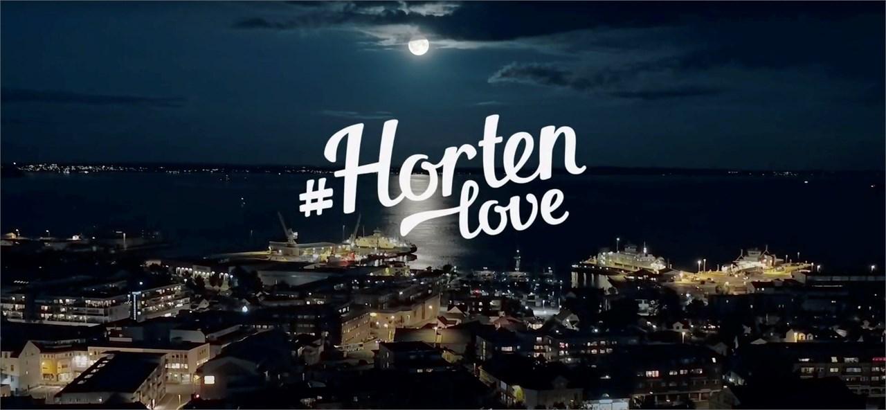 Horten by om natten.