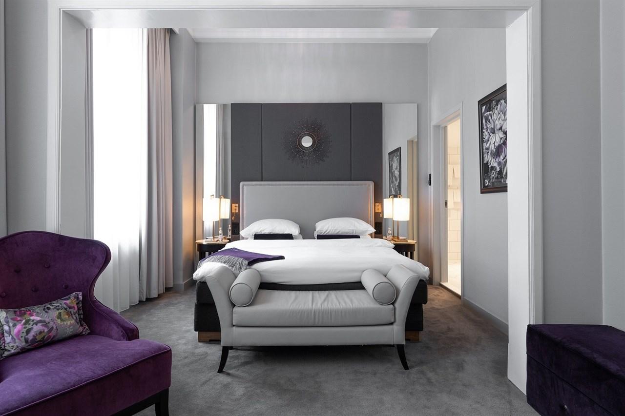 Bed in Deluxe room