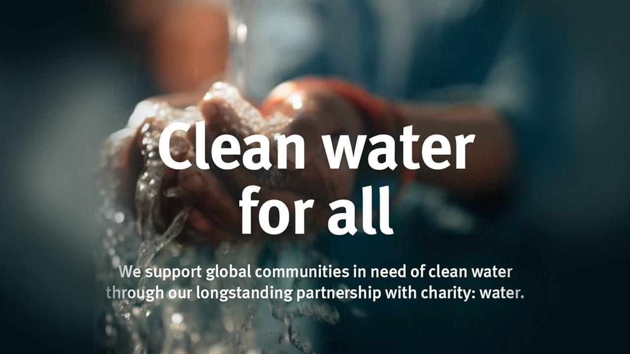 Rent vann til folk i nød. April er Earth Month og Aveda støtter med flere tiltak.