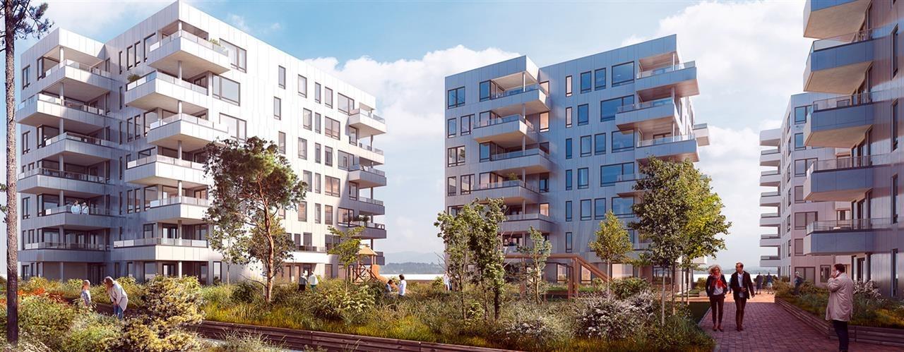 Selvaag Utleiebolig har blant annet ervervet 70 leiligheter for utleie i boligprosjektet Sandsliflaten på Sandsli i Bergen.