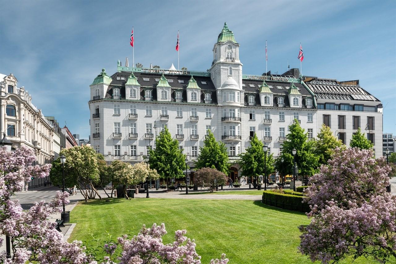 Fasade Grand Hotel Oslo