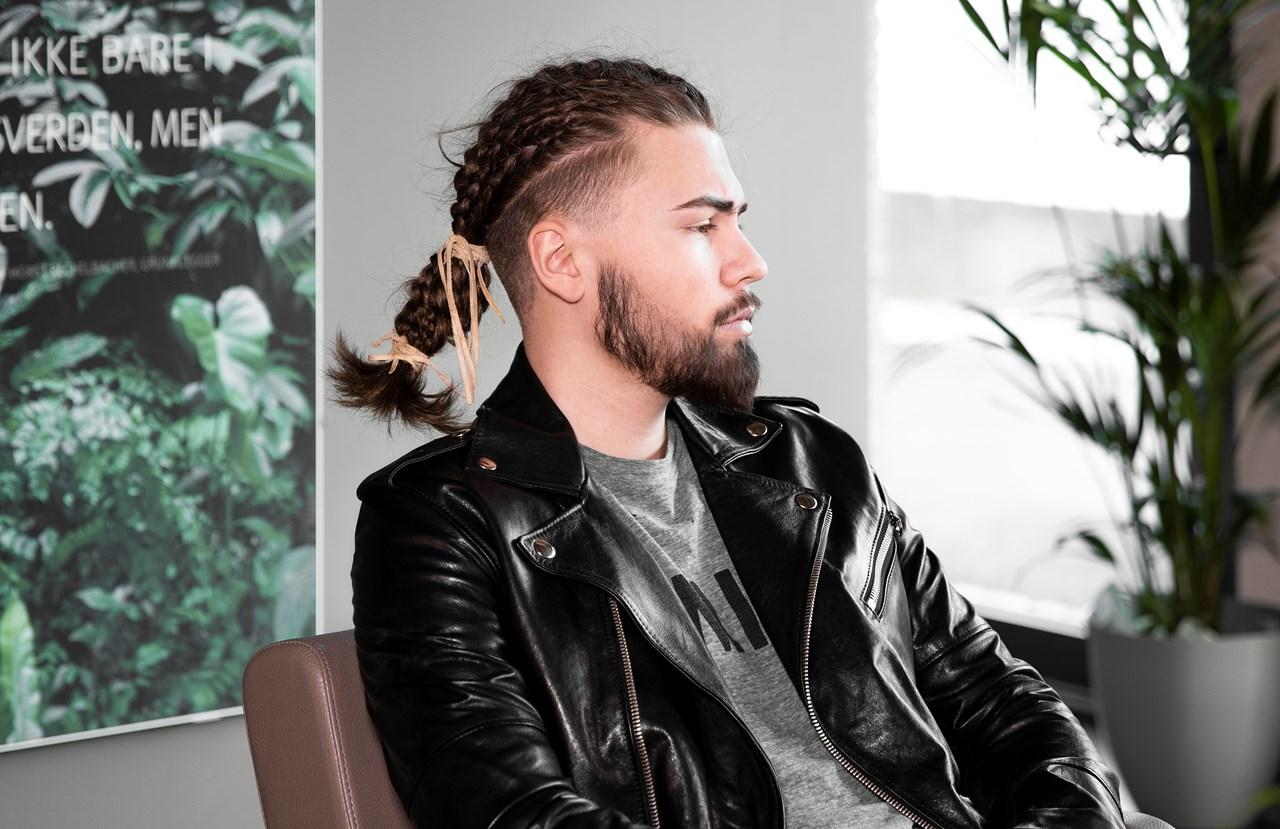 Petite Frisørene Eiksmarka er også et godt sted å være for gutta, og frisør/stylist William Bergem jobber fast to dager i salongen.