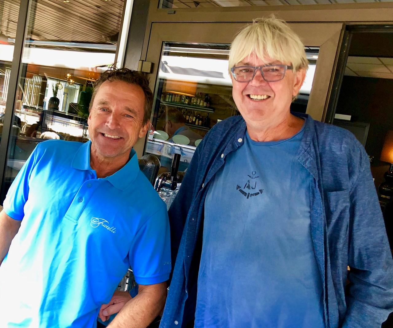 SKAPER NYTTKONSEPT:Per Ivar Hansen og Børre «DJ Project» Tosterud ble på en ferietur i sommer enige om konseptet «F Lounge»på Fratelli, med god musikk for voksne og muligheter for å prate sammen.