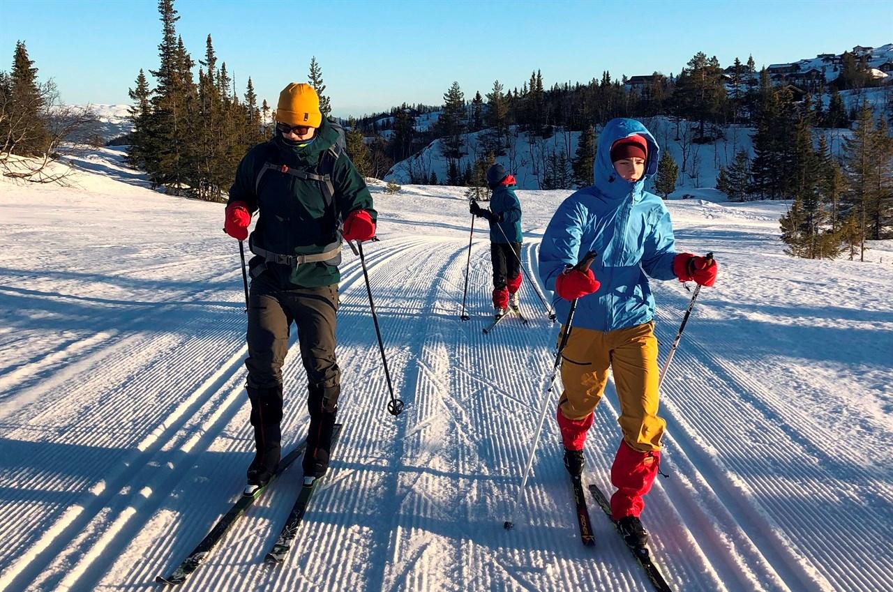 Mye snø: På Norefjell er det full vinter. Kun to timers kjøring fra Oslo.