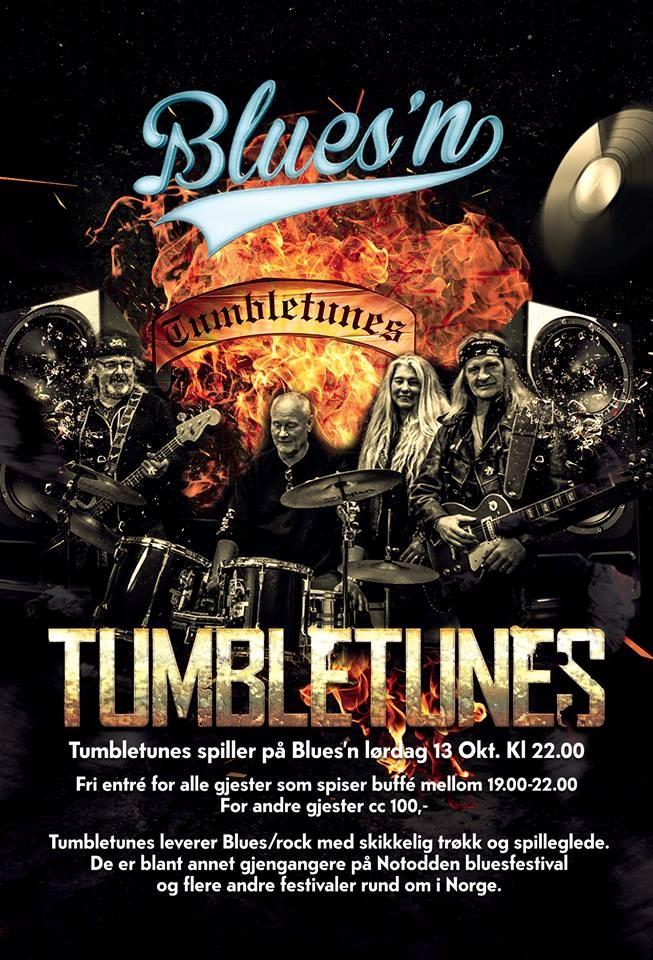 Tumbletunes spiller på Blues`n cover 100 kr