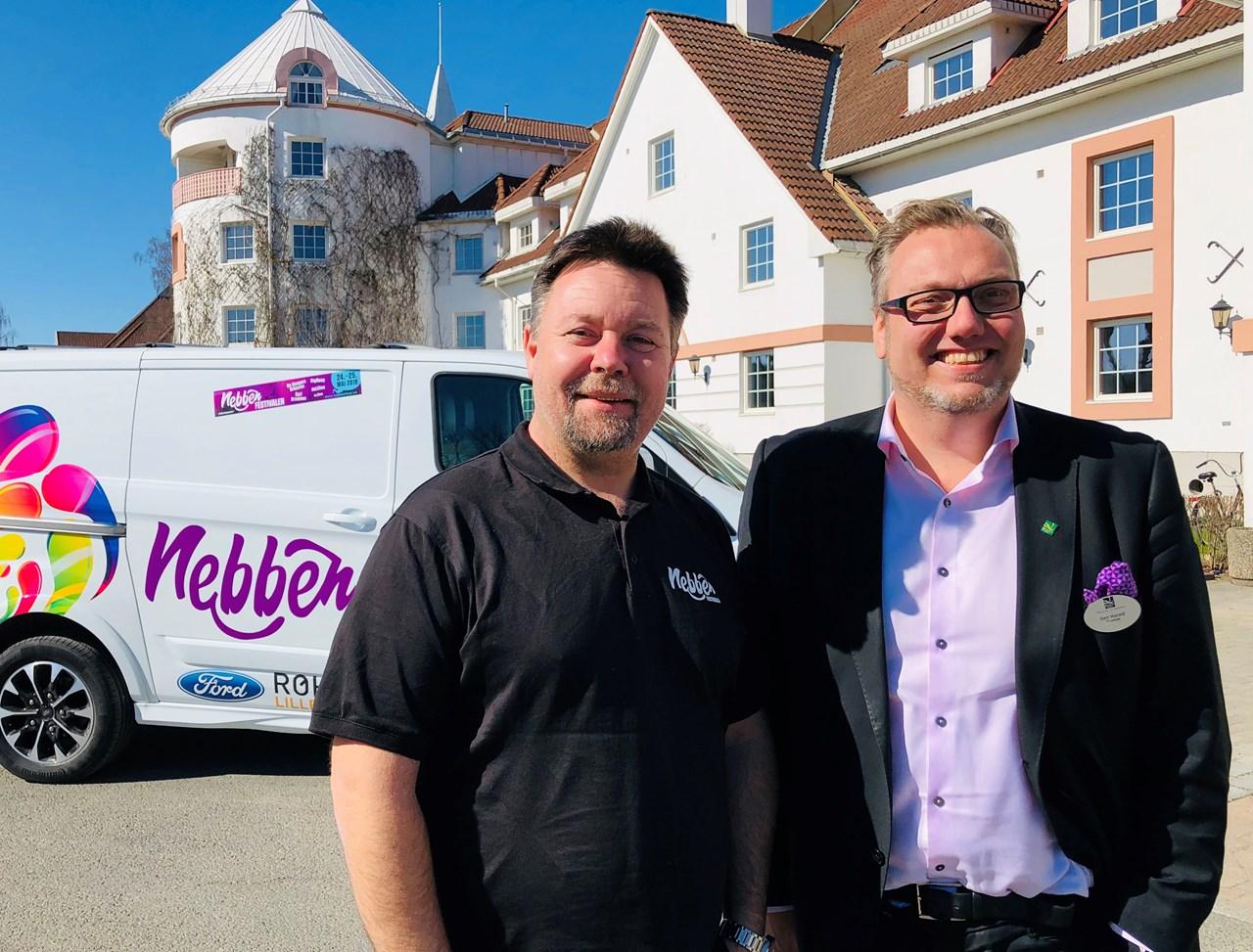 KLAREFORNEBBENFEST: André Myklebust fra Nebbenfestivalen er veldig glad for initiativet til Geir Fjellheim på Quality Hotel Olavsgaard.