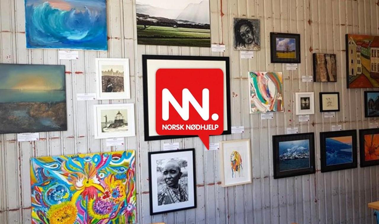 På veggen på Knut Kafé i Horten henger det vakker kunst som kan bli din.