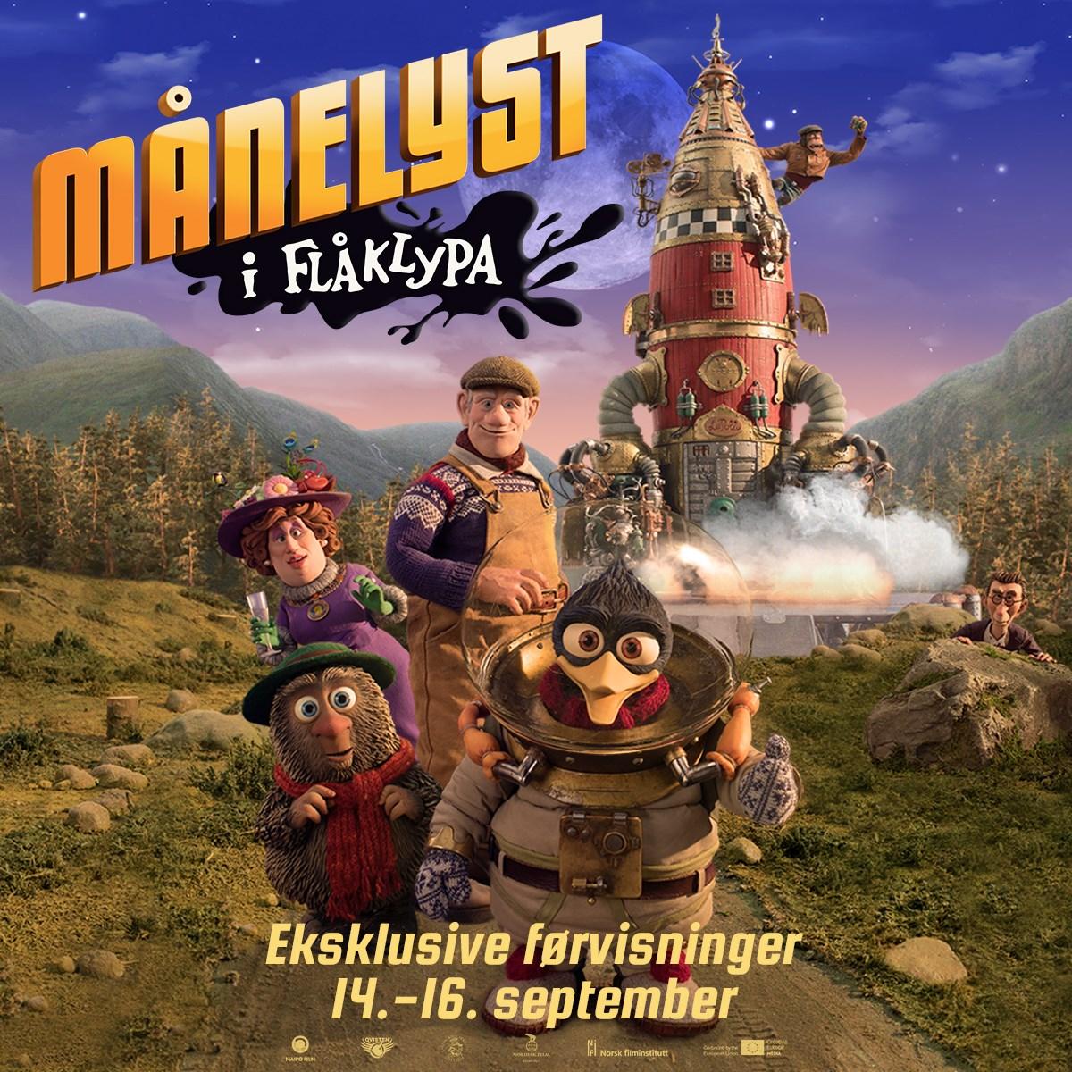 Førpremiere helg: Månelyst i Flåklypa