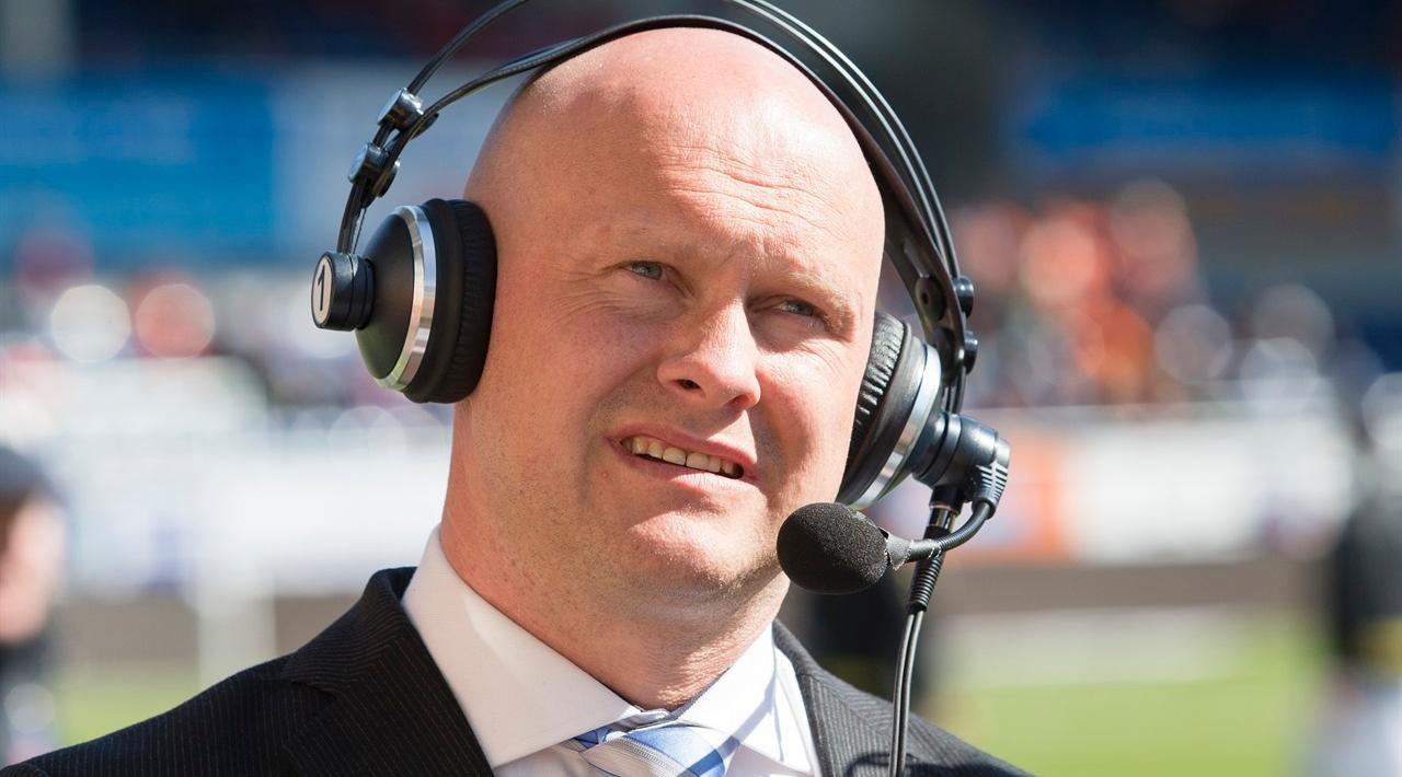Joacim Jonsson, her fra tiden som fotballekspert i 2015. Foto: Svein Ove Ekornesvåg / NTB scanpix