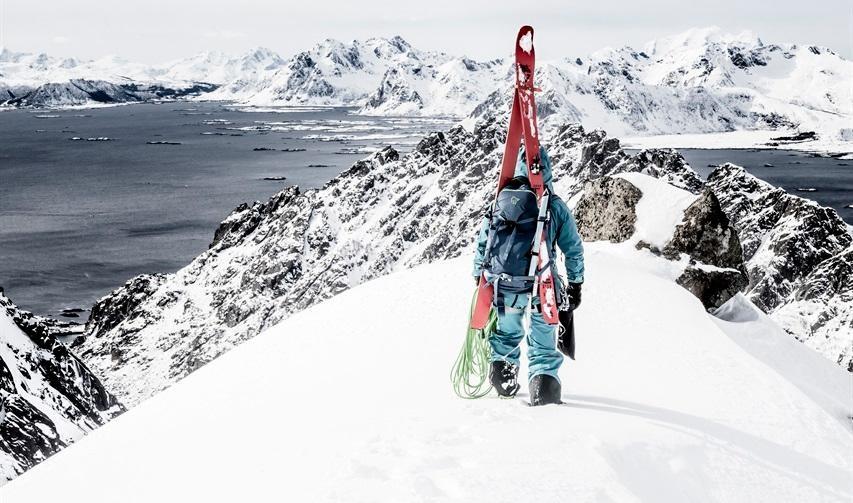 I Lofoten med Johanna Stålnacke. Foto: Kent Malm, Hestra gloves