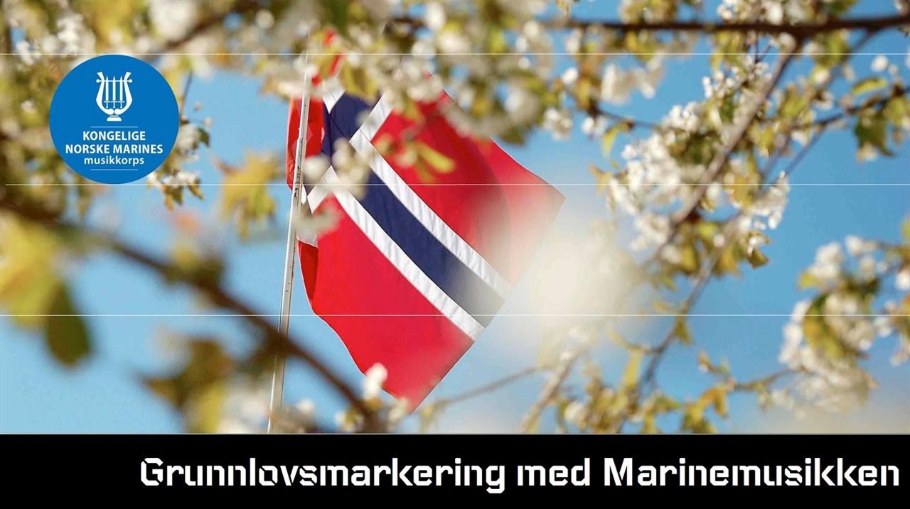 Grunnlovsmarkering med Marinemusikken // Horten