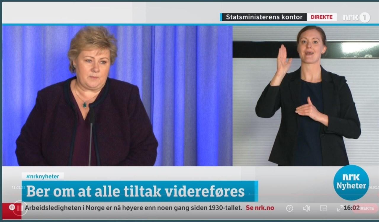 Fra pressekonferansen 24. mars. Statsminister Erna Solberg viderefører koronatiltakene frem til og med 13. april. Da har frisør- og velværebransjen vært en måned i lockdown.