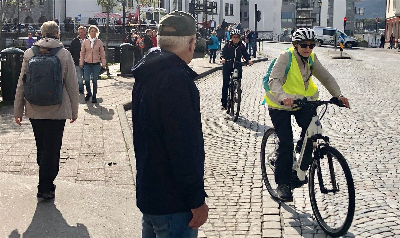 «Sykkelplanleggere» i Ålesund har samme ambisjon som nasjonale føringer, de vil at flere av oss skal sykle! Foto: Trine Klemetsen