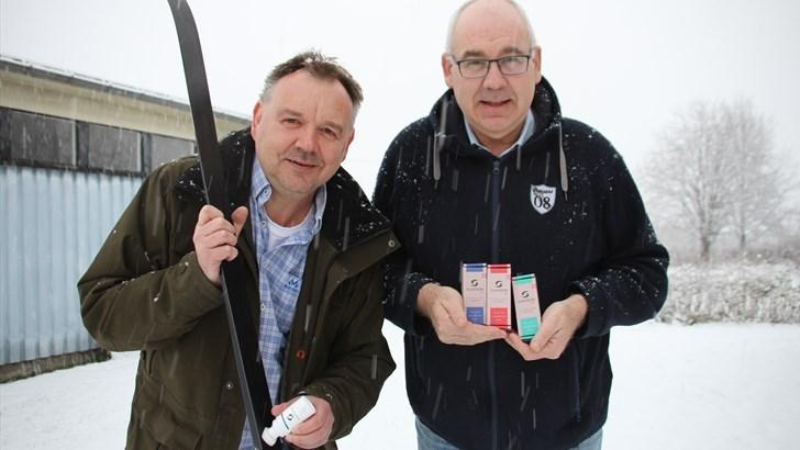 TROR PÅ: Daglig leder Stein Husvær(t.v.)  og medeier Hans Gunnar Frivoll har stor tro på deres nye miljøvennlige produkter som også er enkle i bruk. FOTO: MORTEN DAHL