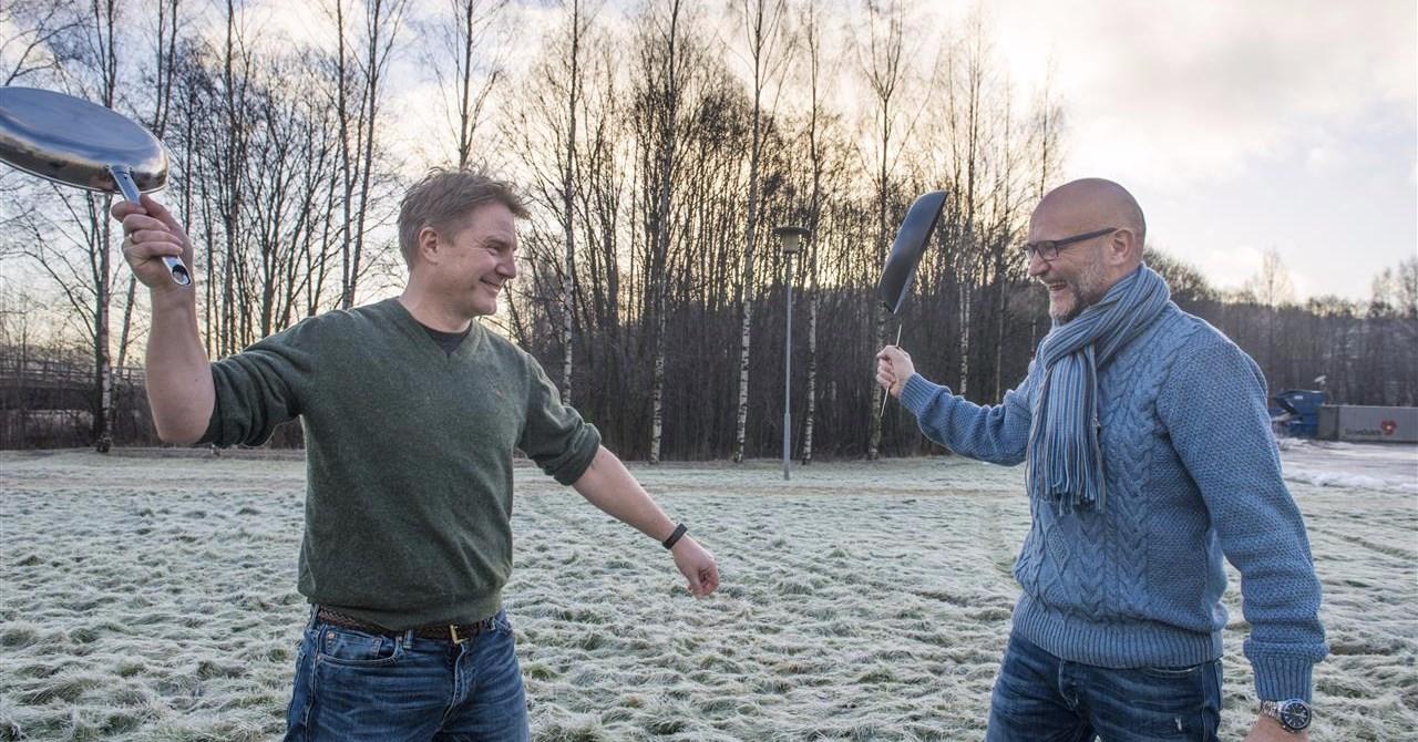 Ole Terje og Jørn har fokus på stekepanner!