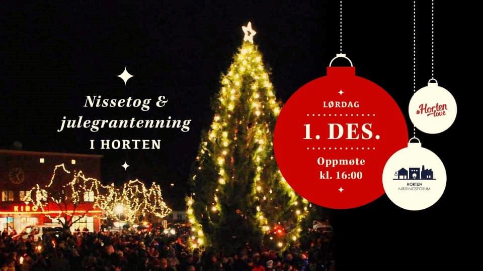 Nissetog og julegrantenning i Horten