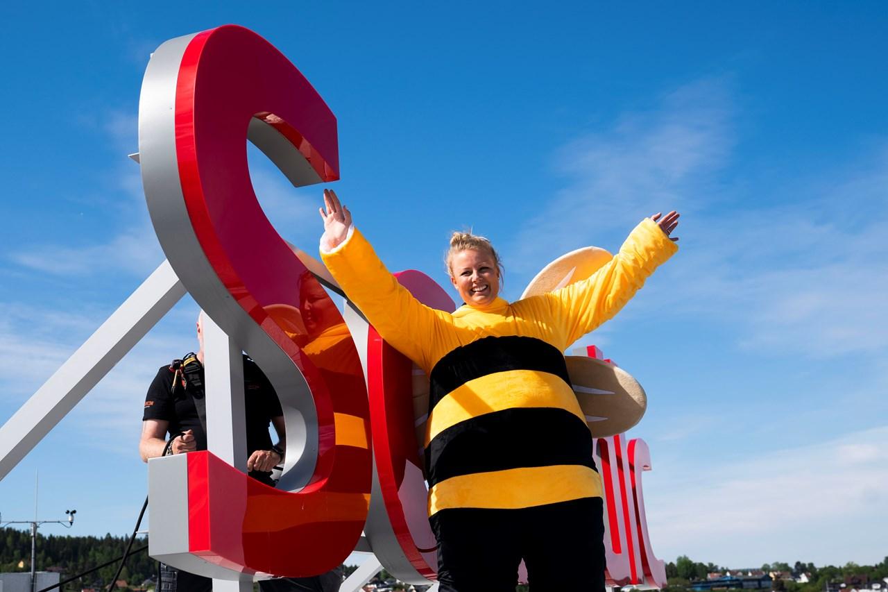 Hotelldirektør ved Scandic Hotel Lillestrøm, Jannicke Holmgreen Lorentzen, har ansatt 60 000 nye, flittige medarbeidere.  Foto: Anne Merete Rodem