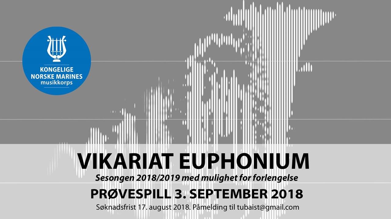 Vikarprøvespill euphonium