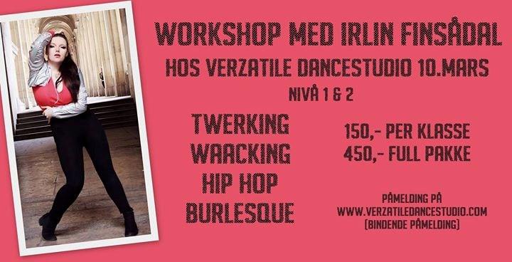 Workshop med Irlin på Verzatile Dancestudio