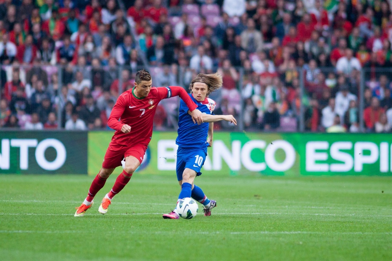 Cristiano Ronaldo en Luka Modric