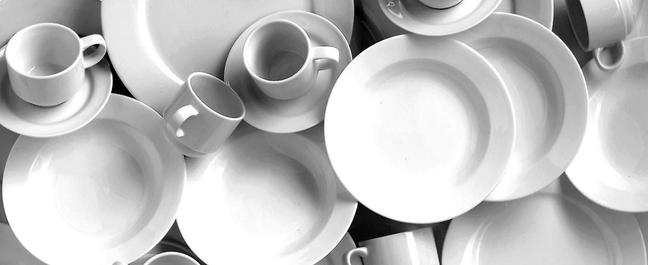 Porselen er noe av det mest hygieniske du kan bruke i matservering.