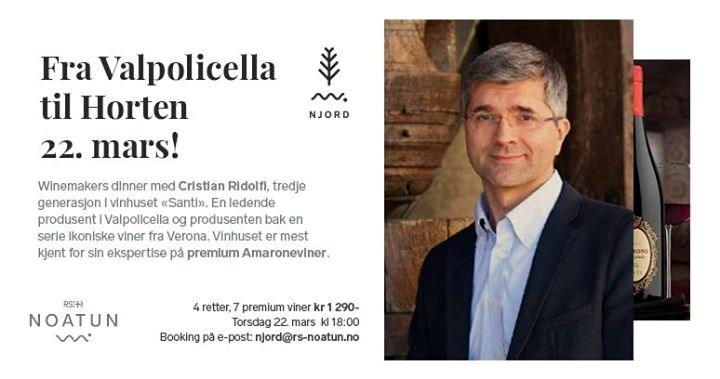 Winemakers Dinner med Cristian Ridolfi fra vinhuset «Santi»