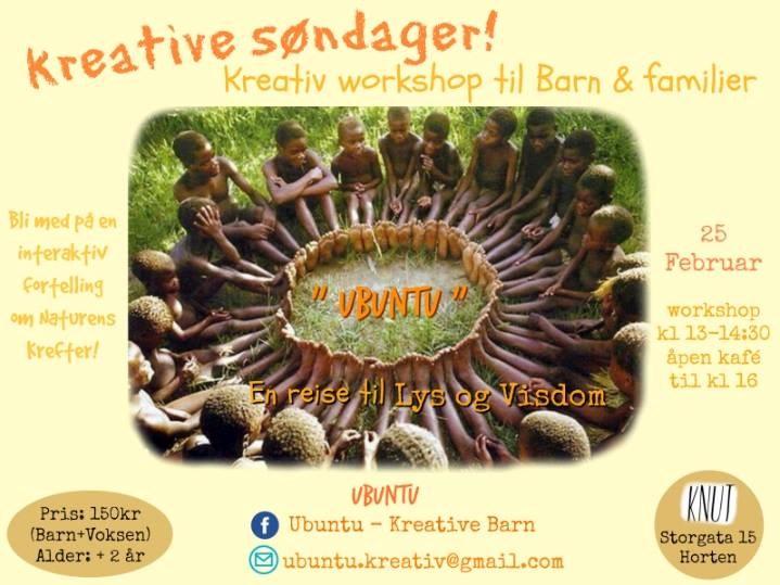 Barn Kreativ workshop: Ubuntu - Interaktiv Fortelling