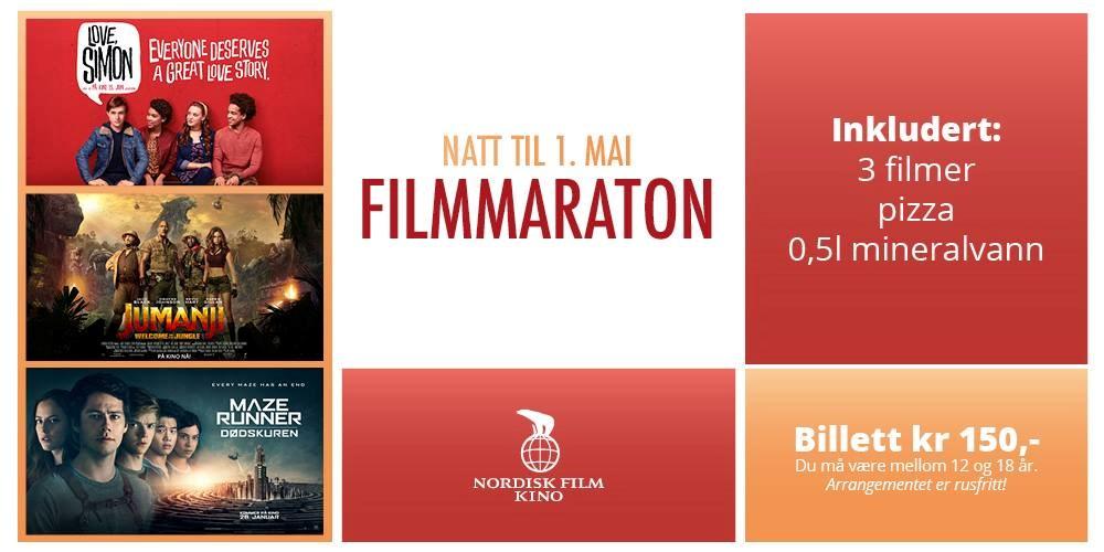 Natt til 1. Mai Filmmaraton på Horten kino
