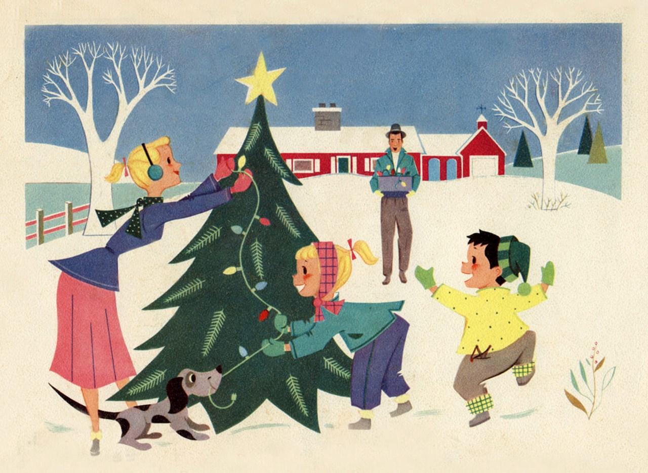 Retro og Vintage Pop-Up Julemarked