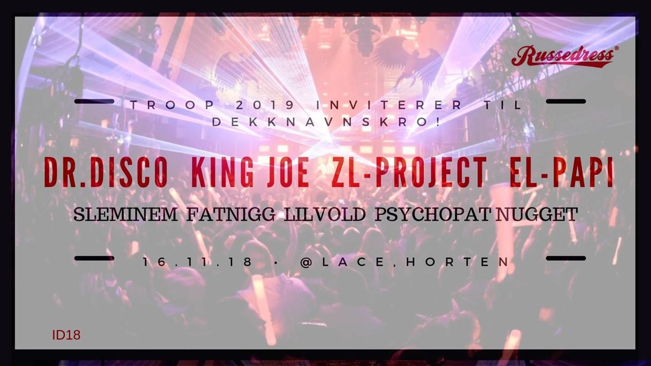 TROOP 2019 inviterer til dekknavnskro 16.nov!