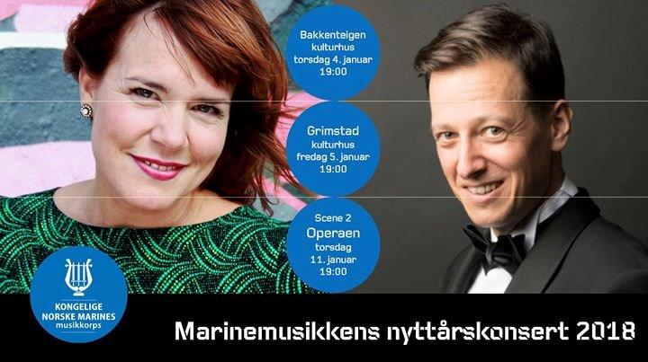 Marinemusikkens nyttårskonsert 2018 // Bakkenteigen kulturhus