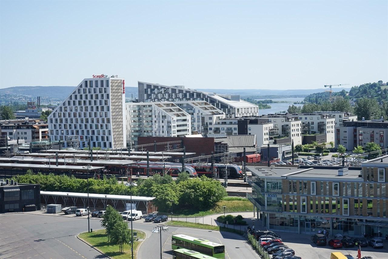 Skedsmo kommune har stadig nye prosjekter på gang. En helt ny bydel vokser fram i Lillestrøm Syd. Foto: Kjell Arne Jørgensen/Skedsmo kommune.