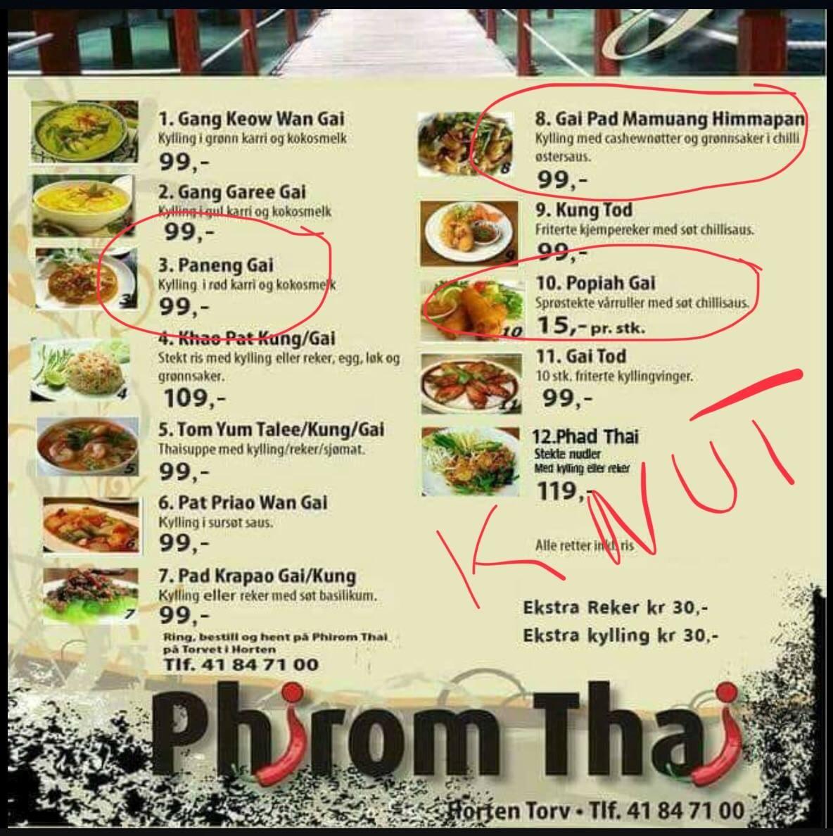 Phirom Thai i Knut