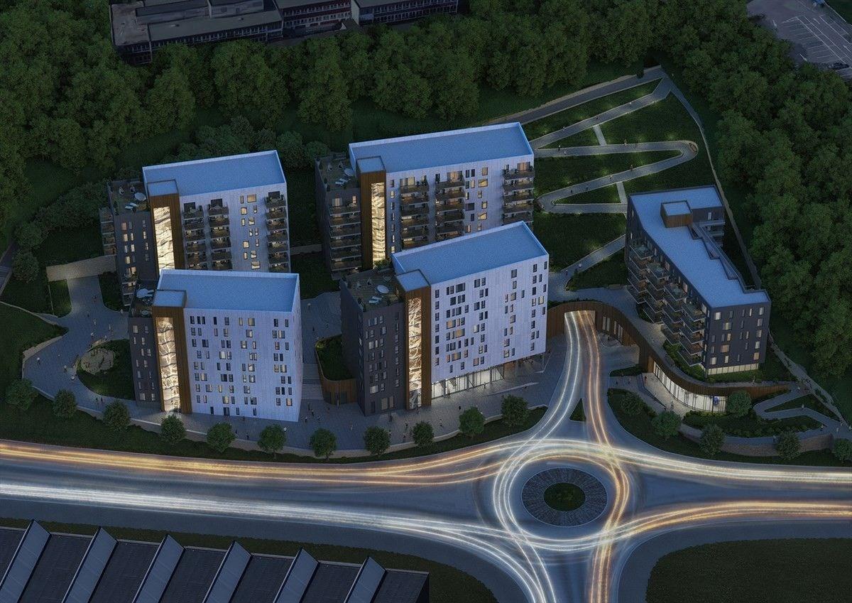Illustrasjon av boligprosjektet Fanaveien 87