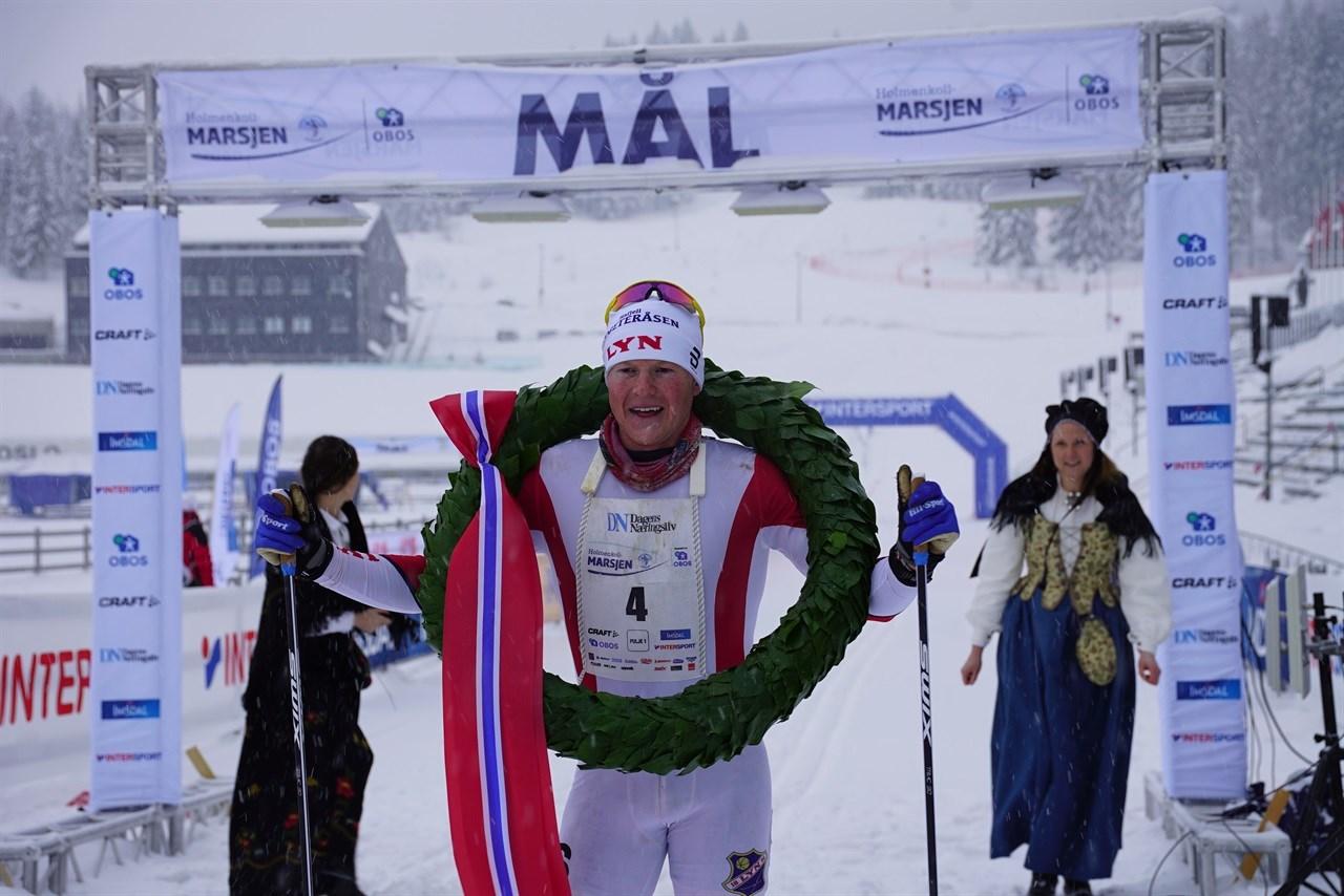 Joar Thele vant Holmenkollmarsjen i 2018.