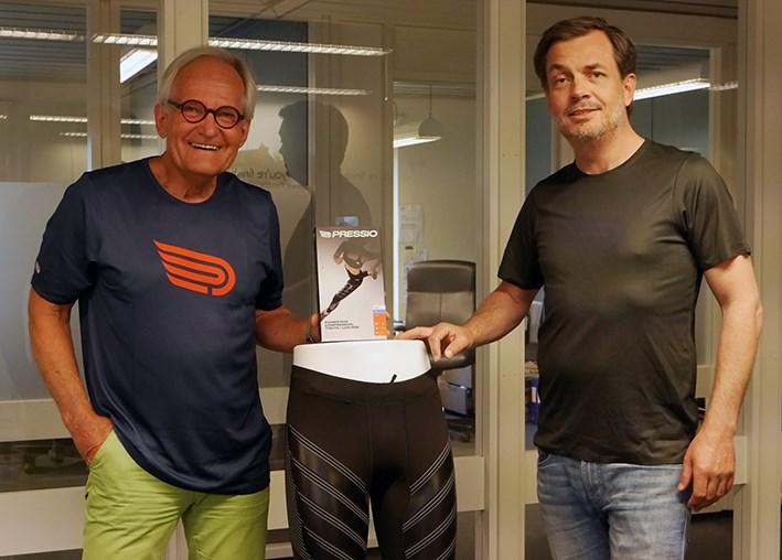 Nye medlemmer i Norsk Sportsbransjeforening: Smart4U Group, t.v. Svein Andersen og Kim Andersen.
