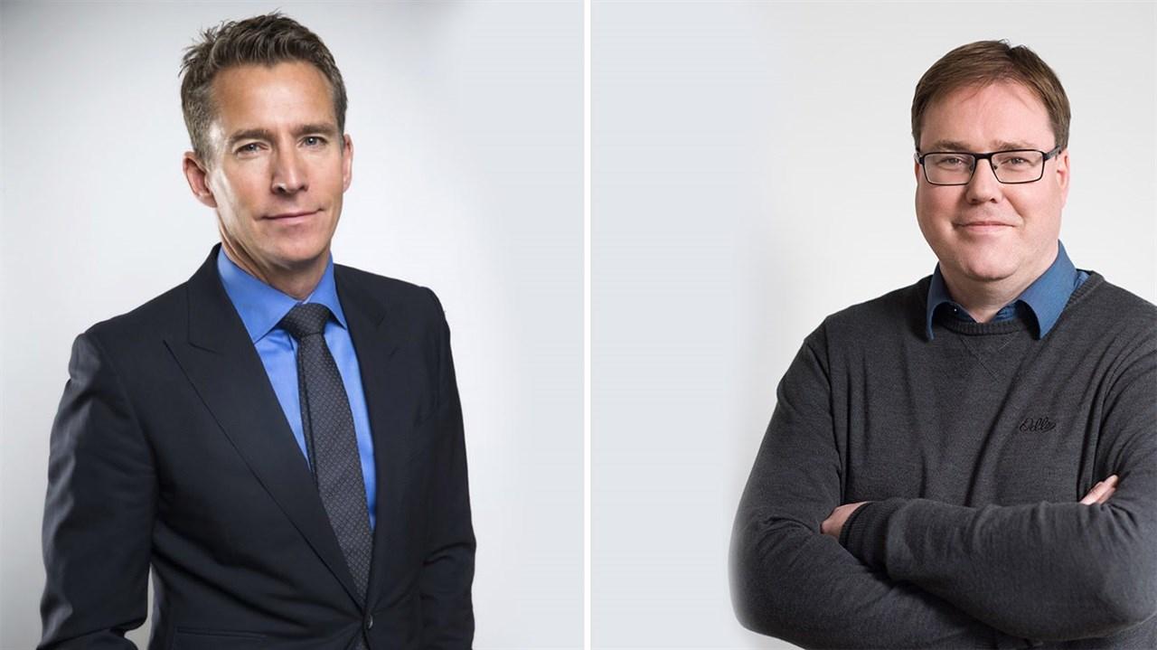 Til venstre, ny eier i ODLO Hugo Maurstad, og administrerende direktør i ODLO International Knut Are Høgberg.