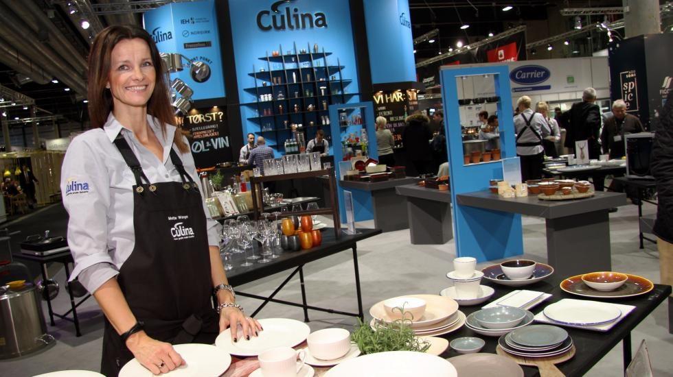 Mette Wangen, Culina Oslo, foran Culina sin stand på SMAK2017.