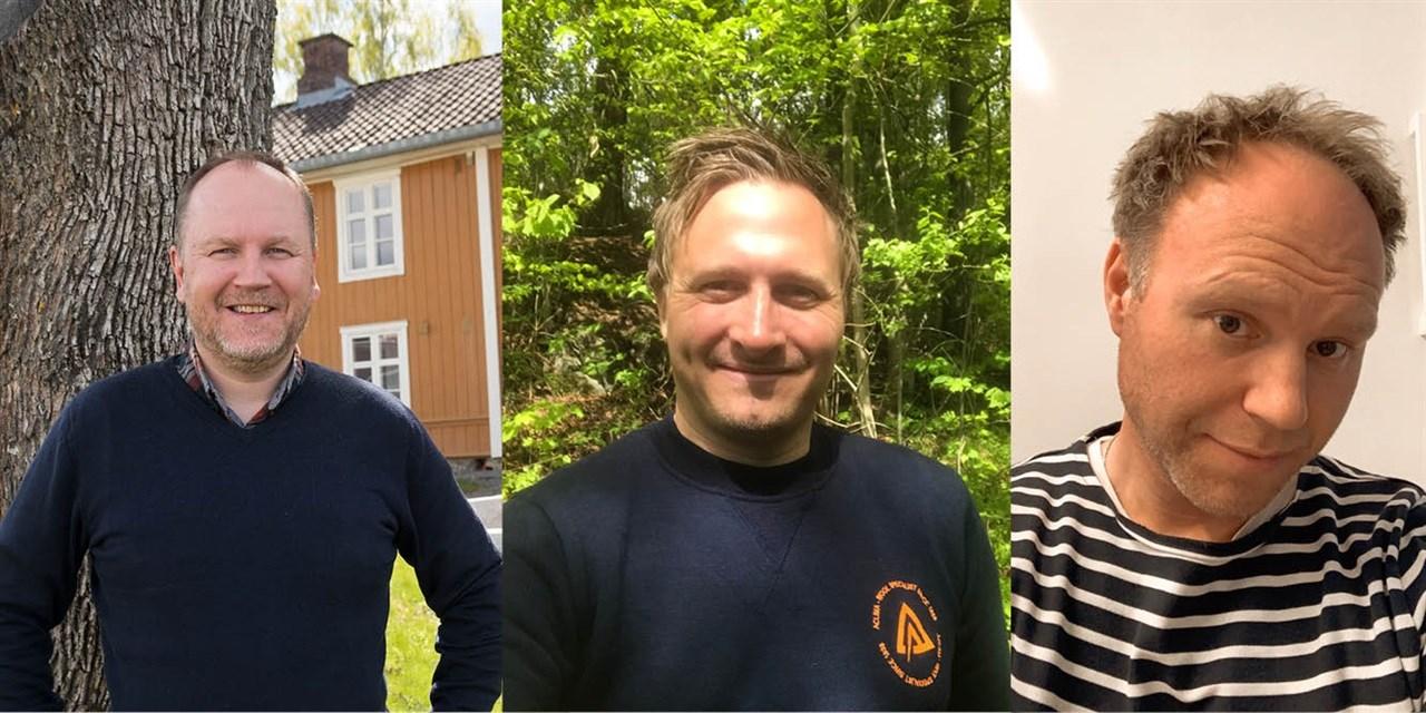 Fra venstre: Thor Øyvind Hagen, salgs- og markedssjef i ALFA, markedssjef Ole Magnus Halvorsen i Aclima og salgssjef i Drytech, Kyrre Jonassen.