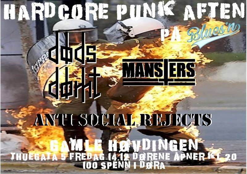 HardCore Punk aften, 3 band i kveld