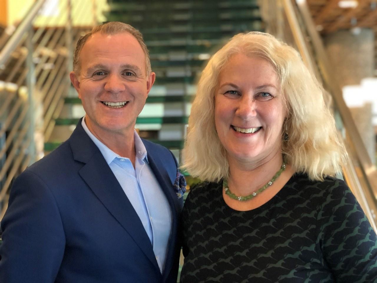 Blide ledere: NFVBs president Espen Sævold og direktør Anne Mari Halsan.