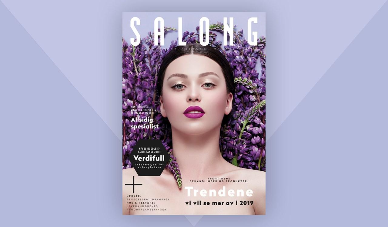 Magasinet SALONG utgave 4-2018 byr på hyggelig lesning om behandlingstrender, nye produkter og litt av hvert om det som skjer i bransjen.<br/>