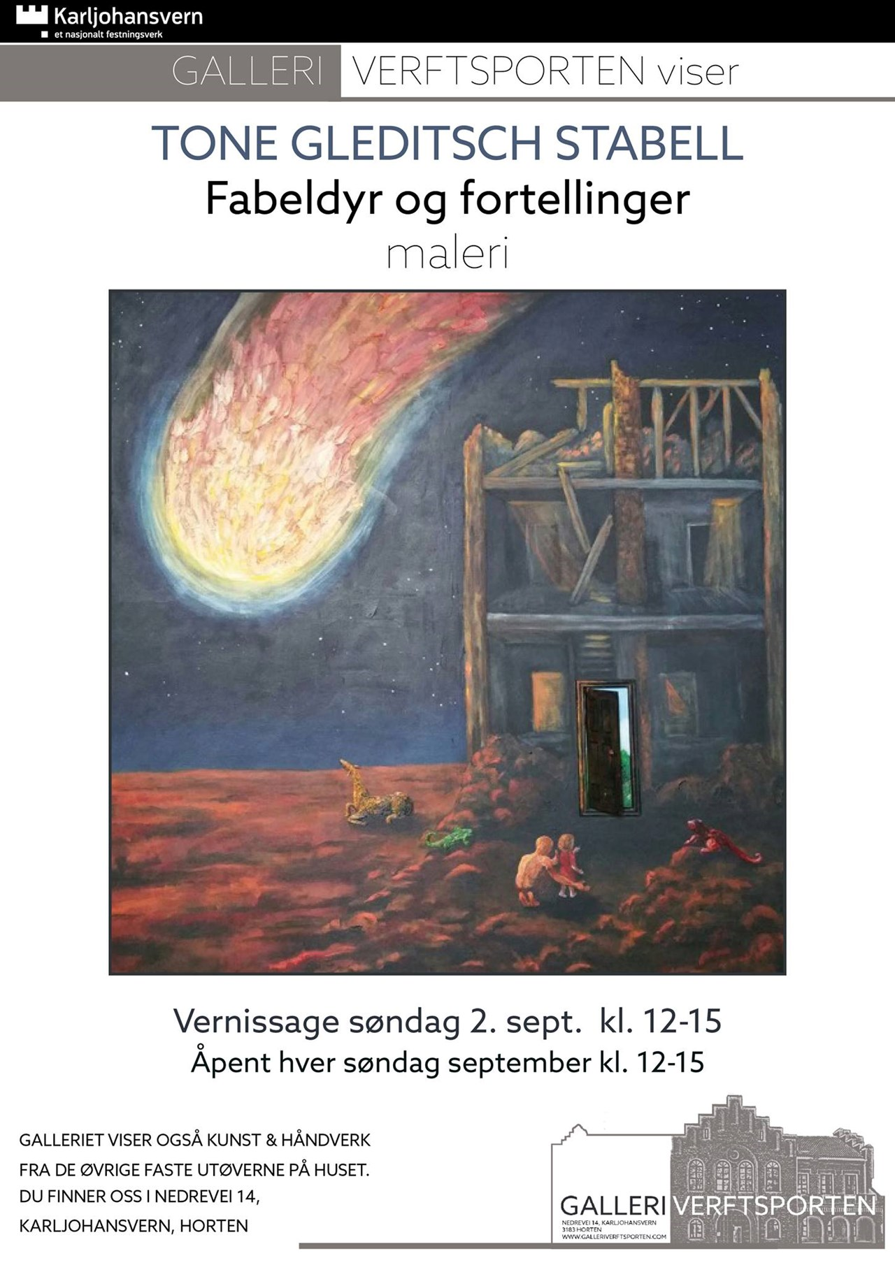 Månedens kunstner i september Tone Gleditsch Stabell - malerier