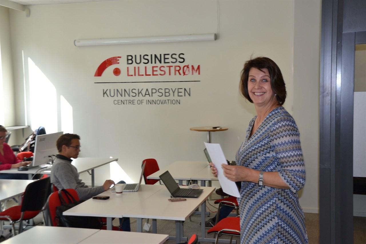 Daglig leder Kristin Uvaag Tufte i Business Lillestrøm inviterer deg som har en god idé til å bli med i konkurransen. Foto: Steinar Aasen.